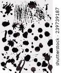 set of grunge ink splashes... | Shutterstock .eps vector #239739187