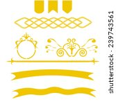 set of vintage vector elements | Shutterstock .eps vector #239743561