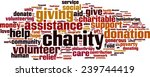 charity word cloud concept.... | Shutterstock .eps vector #239744419