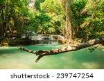 waterfall at huay mae khamin... | Shutterstock . vector #239747254