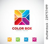 an attractive color box vector...