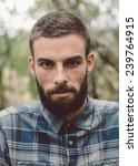 hipster man portrait. man has... | Shutterstock . vector #239764915