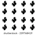sitting squirrel black and... | Shutterstock . vector #239768419