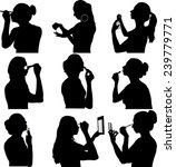 women make up silhouette  ... | Shutterstock .eps vector #239779771