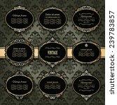 luxury golden frames and labels ... | Shutterstock .eps vector #239783857