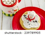 Melting Snowman Sugar Cookie...