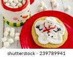 Melting Snowman Sugar Cookie...