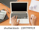 working on wood table | Shutterstock . vector #239799919