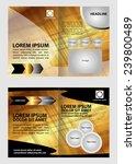 golden brochure template  | Shutterstock .eps vector #239800489