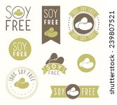 soy free hand drawn labels | Shutterstock .eps vector #239807521