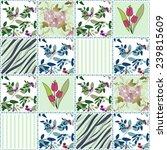 patchwork seamless floral... | Shutterstock . vector #239815609