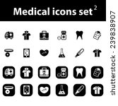 medical vector icons set | Shutterstock .eps vector #239838907