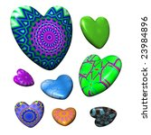 fashion hearts collection...   Shutterstock . vector #23984896