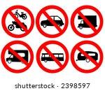 vehicle prohibited signs bike... | Shutterstock .eps vector #2398597