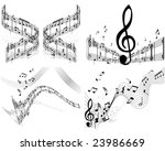 musical designs sets with... | Shutterstock .eps vector #23986669