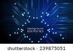 vector circuit board blue... | Shutterstock .eps vector #239875051
