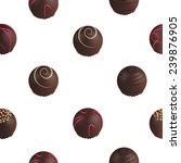 pattern of chocolate candies on ... | Shutterstock .eps vector #239876905