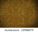 Vintage background with renaissance ornament - stock photo