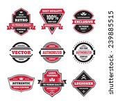 vector vintage badges... | Shutterstock .eps vector #239885515