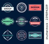 retro vintage labels or logo.... | Shutterstock .eps vector #239894209