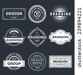 retro vintage labels or logo.... | Shutterstock .eps vector #239894221
