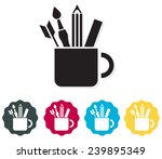 stationary in a cup icon  ... | Shutterstock .eps vector #239895349