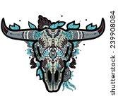 buffalo sugar mexican skull.... | Shutterstock .eps vector #239908084