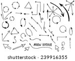 hand drawn arrow collection... | Shutterstock .eps vector #239916355