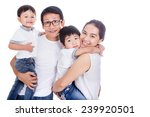 family on a white background | Shutterstock . vector #239920501