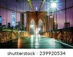 Empty Brooklyn Bridge...