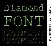 vector diamond font.   Shutterstock .eps vector #239922439