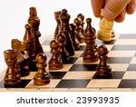 chess gameplay   white knight's ... | Shutterstock . vector #23993935