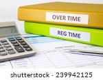 regular time and over time... | Shutterstock . vector #239942125