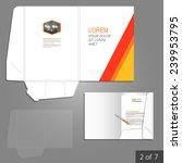 white folder template design... | Shutterstock .eps vector #239953795