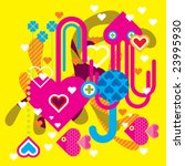 under water love   Shutterstock .eps vector #23995930