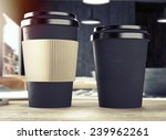 3d rendering of cup on table | Shutterstock . vector #239962261