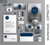 gray stationery template design ... | Shutterstock .eps vector #239966779