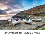 Fishing Boats On The Beach At...