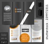 black vector brochure template... | Shutterstock .eps vector #239972311