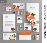 stationery template design with ... | Shutterstock .eps vector #239973421