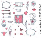 cute love vector set. | Shutterstock .eps vector #239973565