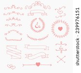 ribbons and laurels cute... | Shutterstock .eps vector #239976151