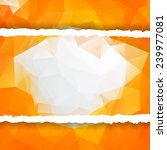 abstract orange triangular...   Shutterstock .eps vector #239977081