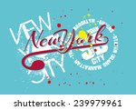 new york city vector art | Shutterstock .eps vector #239979961