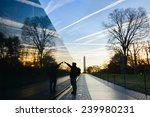 washington dc   a veteran looks ... | Shutterstock . vector #239980231