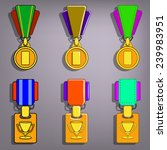 set of medals. vector...