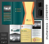 green vector brochure template... | Shutterstock .eps vector #239989999