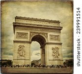 beautiful view of the arc de... | Shutterstock . vector #239991514