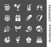 new year party icon set 7 ... | Shutterstock .eps vector #239993554