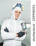 Постер, плакат: automobile repairman painter portrait